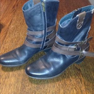Pikolinos size 39 Black & brown boots with straps
